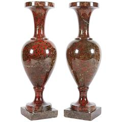 A Pair Of Neoclassical Jasper Vases Possibly Russian or Baltic, 19th century