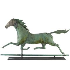Molded Copper Running Horse Weathervane