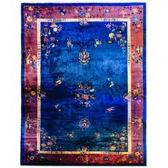 Palatial Size Chinese Art Deco Rug