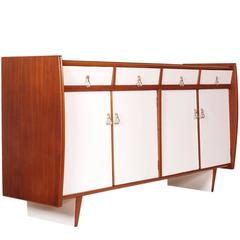 Mid-Century Modern Italian Credenza Art Deco Rationalist Franco Albini Manner