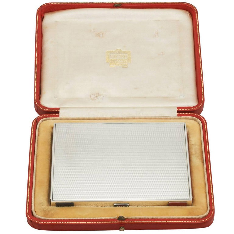 1930s Sterling Silver and Enamel Box by Cartier For Sale