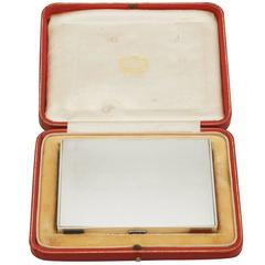 Edward viii Sterling Silver and Enamel Box by Cartier