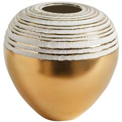 Stunning 'Antithesis Gold Sphera' Vase with an Elegant Shape