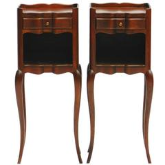 Pair of Nightstands Bedside Tables French Diminutive Louis Rev Side Cabinets