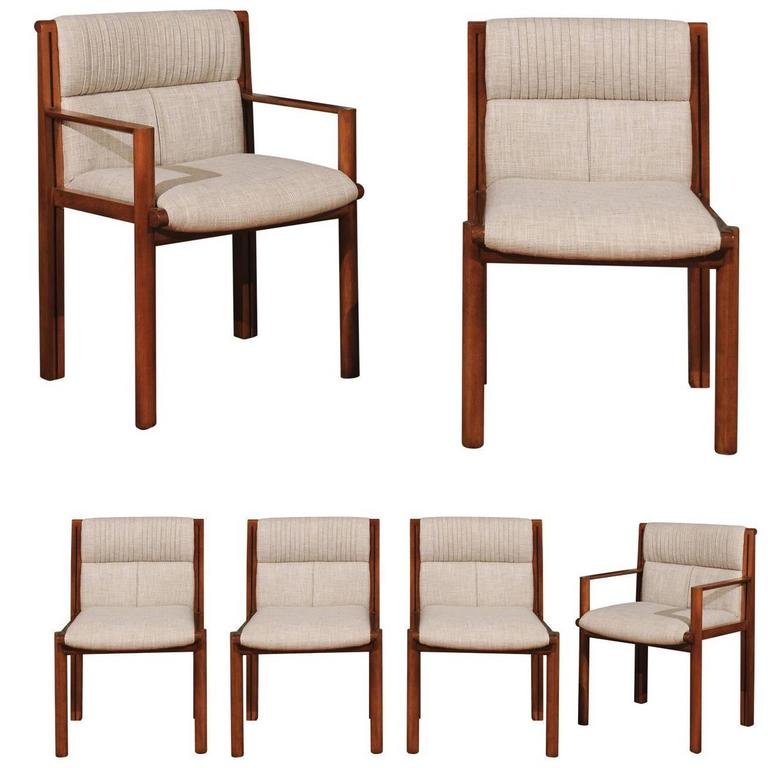 Merveilleux Exceptionally Rare Set Of Six Dining Chairs By Saladino For Baker, Circa  1985