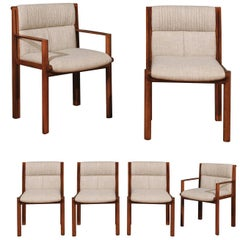 Exceptionally Rare Set of 6 Dining Chairs by Saladino for Baker, circa 1985