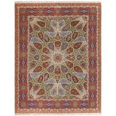 Fine Sadaghiani. Vintage Tabriz Persian Rug