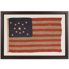 13 Star Antique American Flag with Stars Arranged in a Medallion Configuration