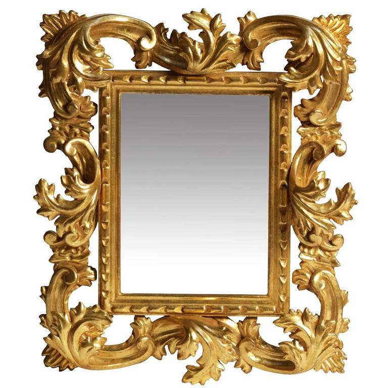 Sophisticated Hand-Carved Frame Mirror 1
