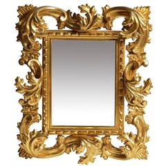 Sophisticated Hand-Carved Frame Mirror