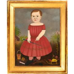 Portrait of a Young Boy in Red Dress Probably by George Hartwell
