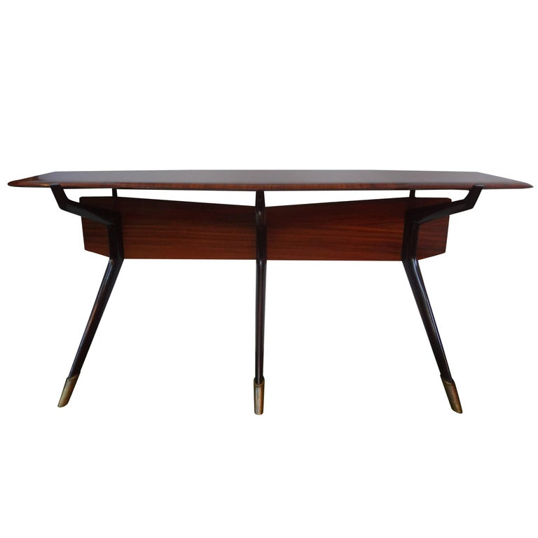 Italian Console Table, Style of Ico Parisi, Made in Milan, Circa 1950