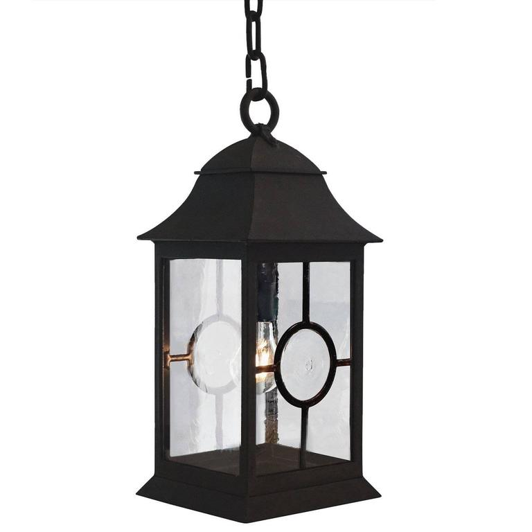 Exterior Wrought Iron Pendant with Nautical Inspirations Holroyd Edition