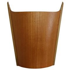 Norwegian Teak Wastepaper Basket by PS Heggin