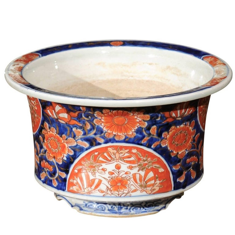 Japanese Imari Porcelain Planter For Sale