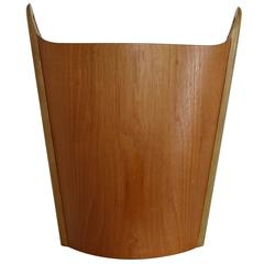 Norwegian Teak Wastepaper Basket by PS Heggin