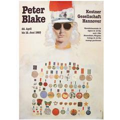 1980s Peter Blake Exhibition Poster Pop Art