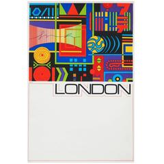 1960s London Travel Poster by GB Karo Pop Art Design