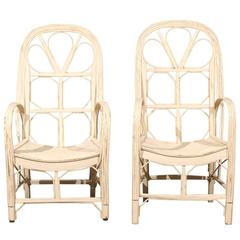 Pair of Late 19th Century French Conservatory Chairs