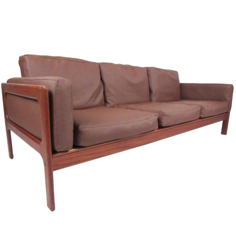 danish modern teak sofa by komfort for sale at 1stdibs. Black Bedroom Furniture Sets. Home Design Ideas