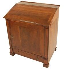 Seltener Schreibtisch, Frankreich, ca. 1820-1830, Kirschbaum, Schellack Hand Polnisch