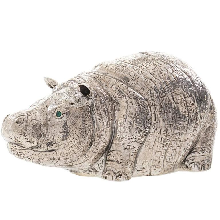 The Hippo Sterling Silver Lighter