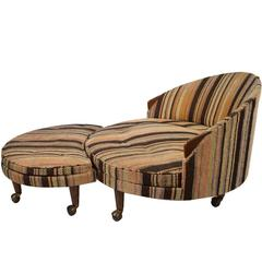 Havana Chair and Ottoman by Pearsall