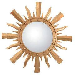A Gilt Metal Sunburst Mirror