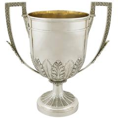 Antique Victorian Sterling Silver Presentation Trophy Cup