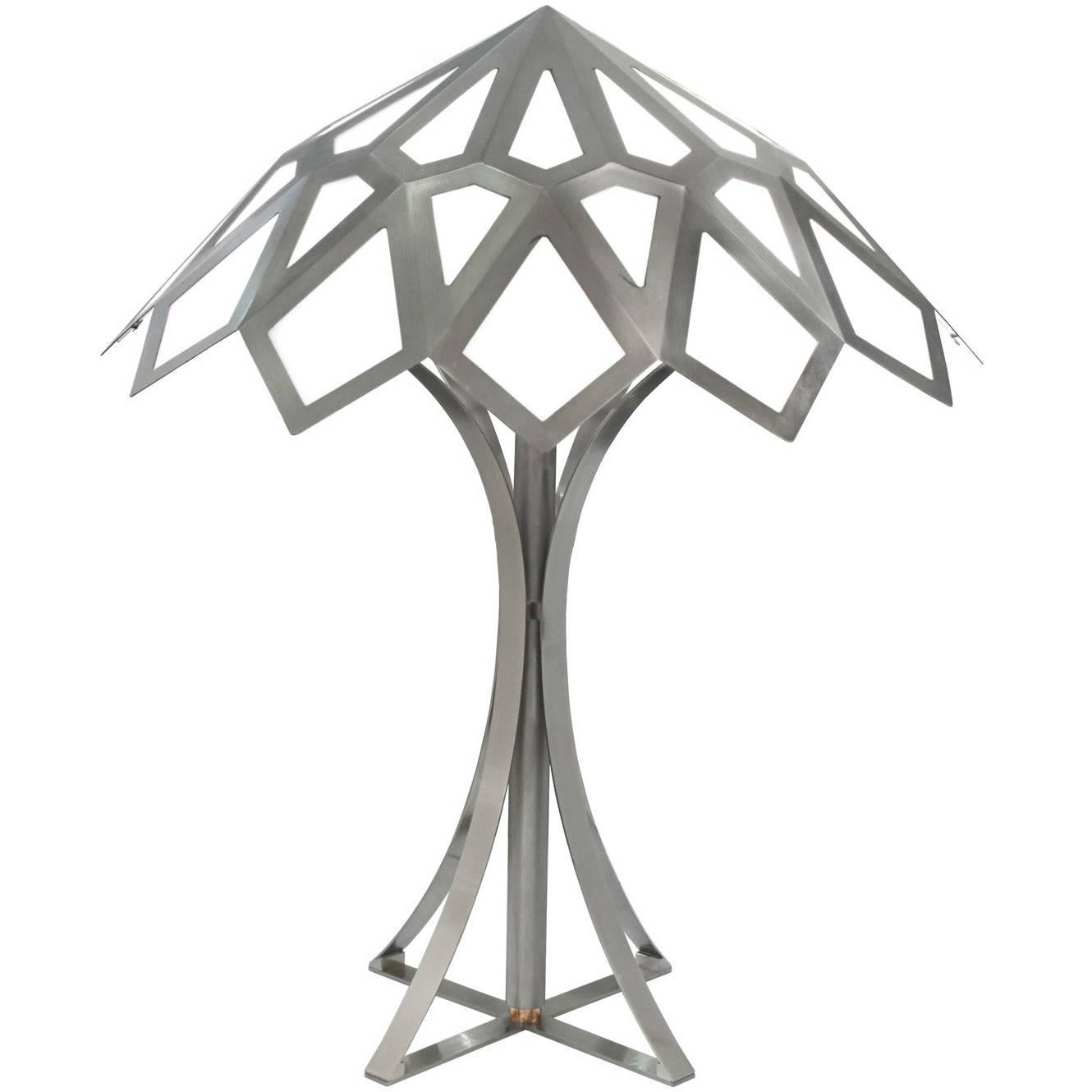 """Gabriella Crespi Rare and Exceptional Large """"Caleidoscopo"""" Table Lamp, 1974"""