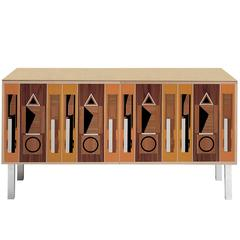 Striking 'Intarsia' Sideboard with a Vintage Design by Aldo Rossi