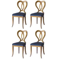 Set of Four Seats Biedermeier Sedi Vener