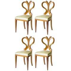 Set of 4 Seats Biedermeier Style Tulip