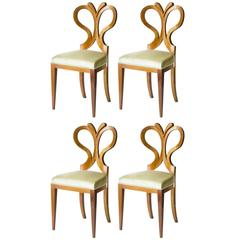 Set of 4 Seats Biedermeier Tulip