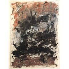 Liz Pannett, 1978 Post Modern Abstract Mixed Media Painting