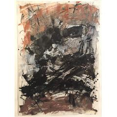 Liz Pannett, 1978 Post Modern Abstract Mixed Media Painting