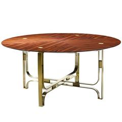 Stunning Round 'Gregory' Dining Table with a Cross Pattern