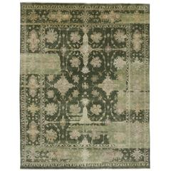 Contemporary Oushak Style Rug with Modern Traditional Style