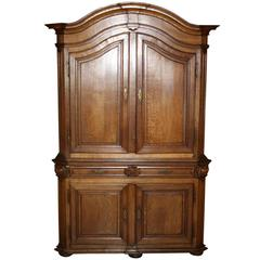 French Oak Deux Corps Cabinet, circa 1880