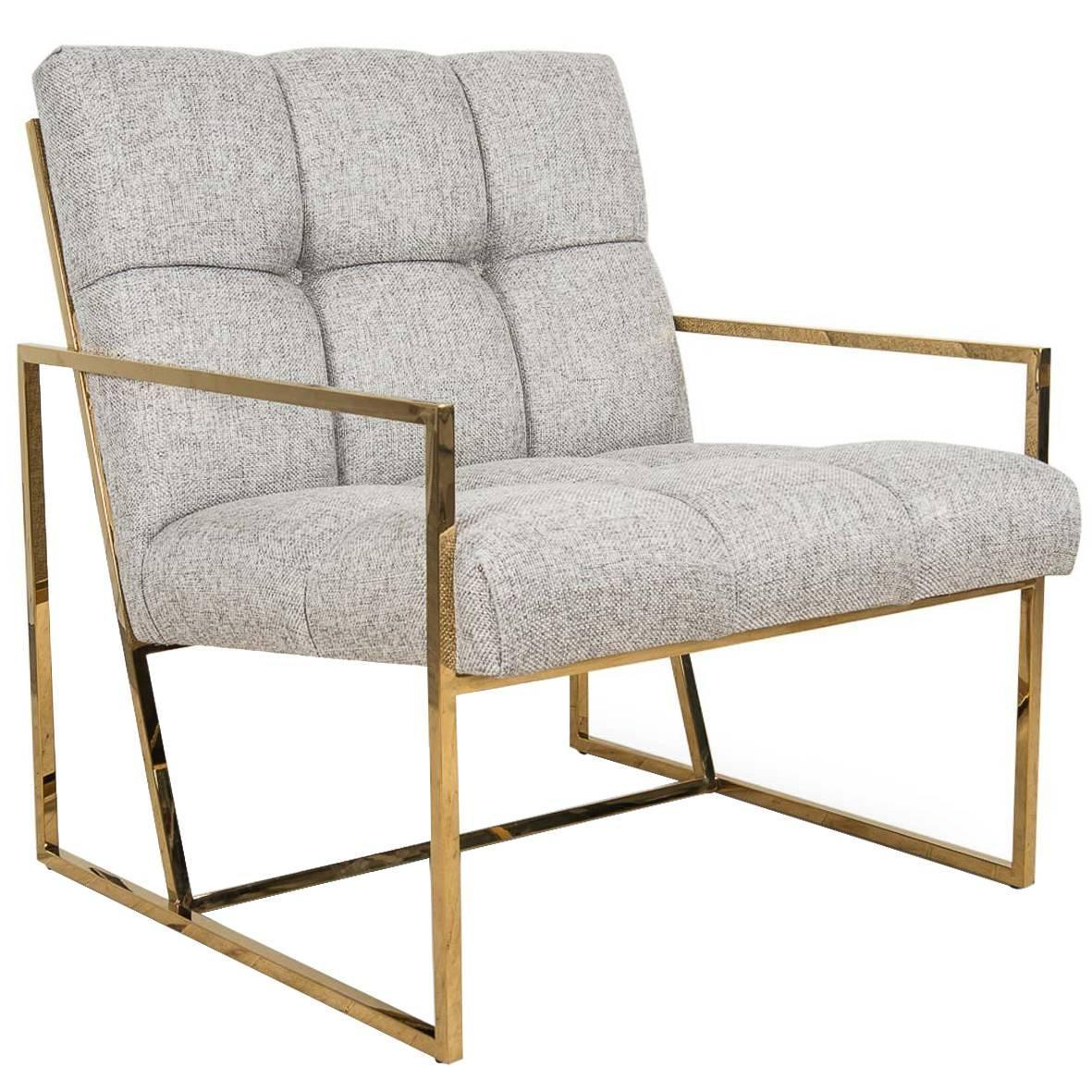 Pleasant Modern Style Lisbon Accent Chair In Gold Speckled Cowhide W Creativecarmelina Interior Chair Design Creativecarmelinacom
