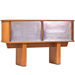 1950s French Sideboard in Oak and Metal