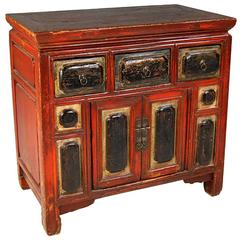 Chinese Gilded and Lacquered Cushion Chest