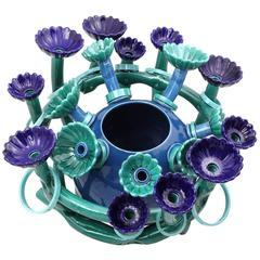 Blue Flora Sculpture