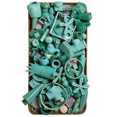 Turquoise 'The Charms' Wall Sculpture with a Confused Design