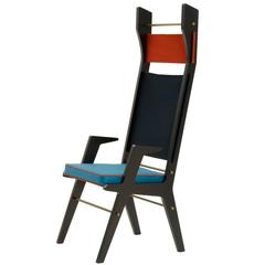 Stylish Red and Blue 'Colette' Chair