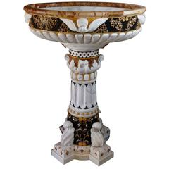 Exquisite Holy Water Basin in Sicilian Baroque Style
