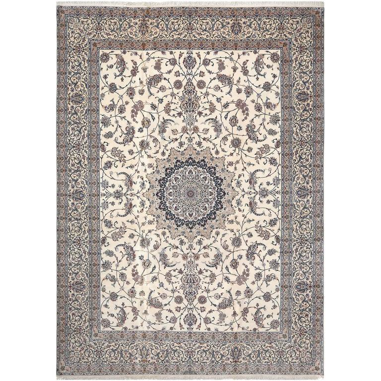 Ivory Wool And Silk Persian Naein Area Rug For Sale At 1stdibs: Uniquely Modern Rugs