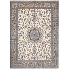 Fine Vintage Nain Persian Rug. Size: 10 ft 9 in x 14 ft 9 in