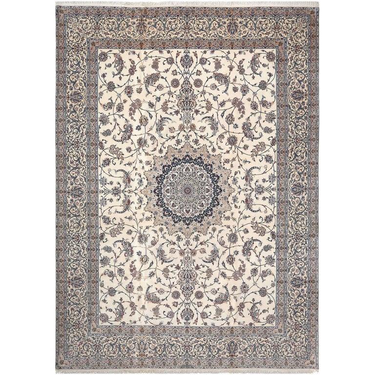 Fine Habibian Vintage Nain Persian Rug