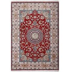 Fine Gharebaghi Vintage Tabriz Persian Rug